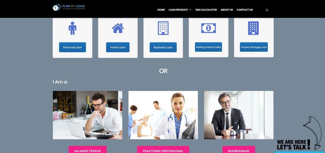 portfolio Portfolio plan my loan website